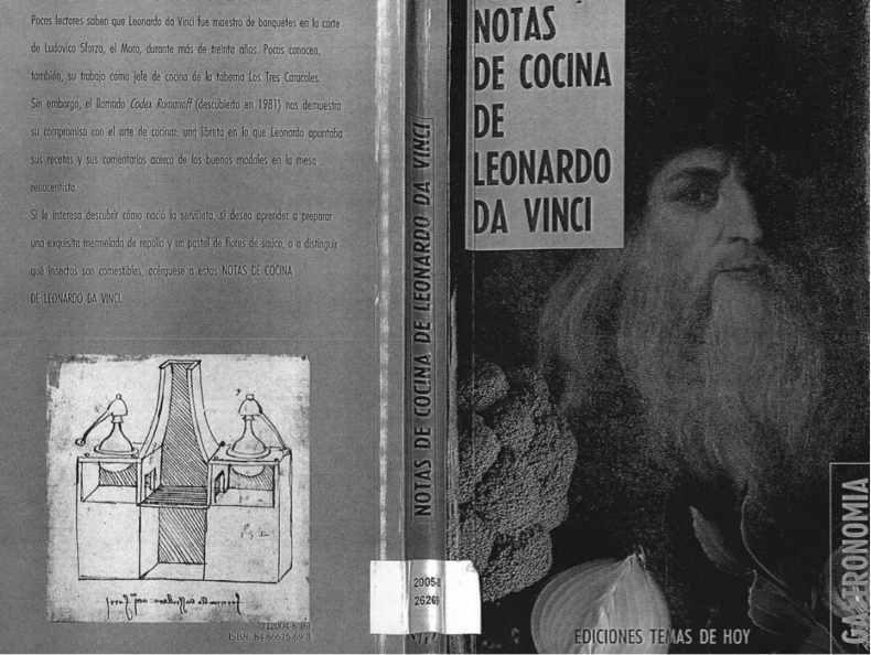 La Cocina De Leonardo Da Vinci | Las Mascaras Del Traductor Y El Pacto Literario En Las Notas De